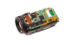 Electronic board video camera. Stock Image