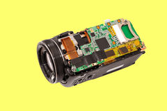 Electronic board video camera. Royalty Free Stock Photography