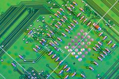Electronic board wallpaper, Motherboard digital chip. Tech science background. Integrated communication processor stock images
