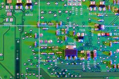 Electronic board wallpaper, Motherboard digital chip. Tech science background. Integrated communication processor stock photos