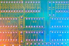 Electronic board wallpaper, Motherboard digital chip. Tech science background. Integrated communication processor royalty free stock photos