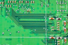 Electronic board wallpaper, Motherboard digital chip. Tech science background. Integrated communication processor stock photography