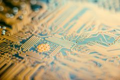 Free Electronic Board With Semiconductor Elements Closeup. Concept Of The Technology Of Solid-state Microelectronics Royalty Free Stock Images - 108649209