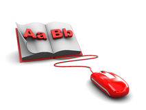 Electronic book. Abstract 3d illustration of electronic book concept Stock Photography