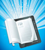 Electronic book concept Stock Photography