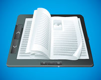 Electronic book concept Royalty Free Stock Images