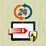 Electronic book design Stock Images