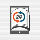 Electronic book design Royalty Free Stock Photography