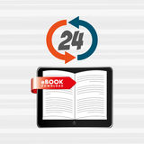 Electronic book design Royalty Free Stock Photo