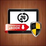 Electronic book design Stock Photos