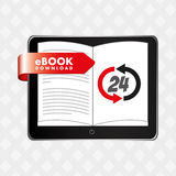 Electronic book design Stock Photography