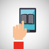 Electronic book design. Illustration eps10 graphic Royalty Free Stock Image