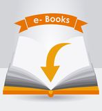 Electronic book design Royalty Free Stock Images