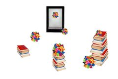 Electronic book, e-learning. Royalty Free Stock Images