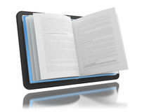 Electronic book. E-reading. E-learning Stock Image