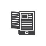 Electronic book reader icon vector. Filled flat sign, solid pictogram isolated on white. Symbol, logo illustration. Pixel perfect vector graphics Royalty Free Stock Images