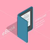 Electronic books icon. Isometric flat vector Royalty Free Stock Image