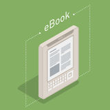 Electronic books icon. Isometric flat vector Stock Photo