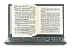 Electronic books library Stock Photo