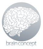 Electronic brain circle Stock Photo