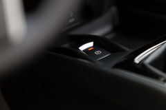 Electronic Brake Button. In car Royalty Free Stock Images