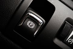 Electronic Brake Button Stock Image