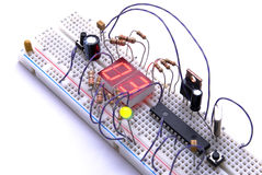 Electronic breadboard Stock Photos