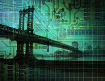 Electronic Bridge Royalty Free Stock Image