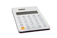 Electronic calculator. Trimmed with white background layout Royalty Free Stock Photo