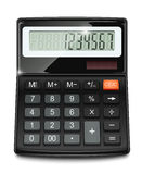 Electronic calculator. Vector illustration on white background EPS10. Transparent objects and opacity masks used for shadows and lights drawing Stock Photography