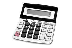 Electronic calculator. An electronic calculator on a white background Royalty Free Stock Images