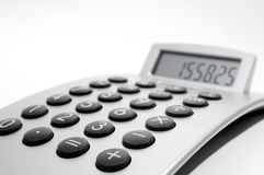 Electronic calculator royalty free stock image