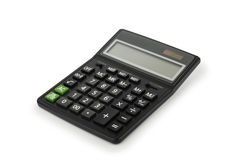 Electronic calculator. Black electronic calculator, isolated on white background Royalty Free Stock Photos