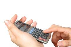Electronic calculator Stock Image