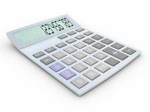 Electronic calculator 3D illustration. Isolated on white background Stock Photos