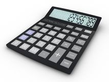 Electronic calculator 3D illustration Stock Photos