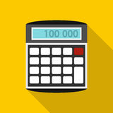 An electronic calculator icon, flat style Royalty Free Stock Images