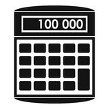 An electronic calculator icon, simple style Royalty Free Stock Images