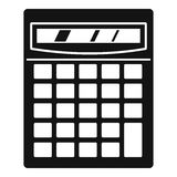 Electronic calculator icon, simple style Stock Images