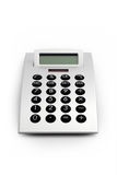 Electronic Calculator Isolated. Design electronic calculator, front view. Isolated on white with clipping path excluding shadows royalty free stock image