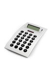 Electronic Calculator Isolated. Design electronic calculator, 3/4 front view Royalty Free Stock Photos