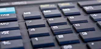 Electronic calculator keyboard Stock Photography
