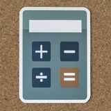 Electronic calculator with mathematical functions icon Stock Photo
