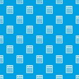 Electronic calculator pattern seamless blue Stock Image