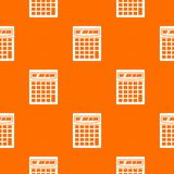 Electronic calculator pattern seamless Royalty Free Stock Photo
