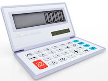 Electronic calculator on a solar energy Stock Photo
