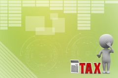 Electronic calculator with tax illustration Stock Photos
