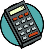 Electronic calculator vector illustration. Vector illustration of an electronic calculator Royalty Free Stock Photography