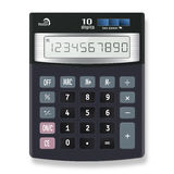 Electronic calculator vector illustration  on white bac Royalty Free Stock Images