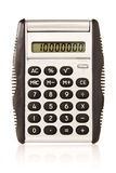Electronic  calculator on white background Royalty Free Stock Image